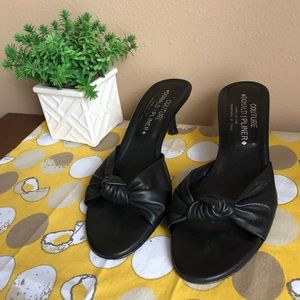 Donald J Pliner black knitted kitten heels sz 7M